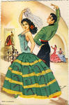 SPANISH dancer in green dress