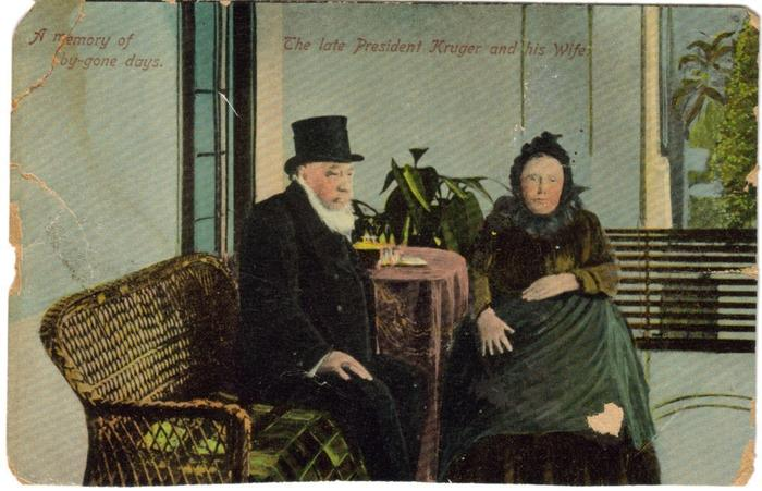 Pres Paul Kruger and his wife